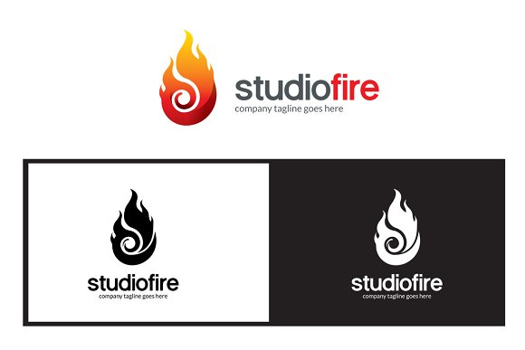Flame Fire Logo Template in Logo Templates - product preview 1