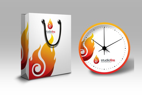 Flame Fire Logo Template in Logo Templates - product preview 3