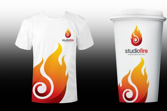 Flame Fire Logo Template in Logo Templates - product preview 4