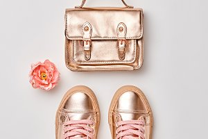 Fashion. Hipster Gold Accessories Se