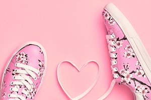 Fashion Trendy Hipster Shoes. Love,V