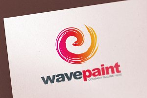 Paint Brush Color Logo Template