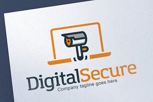 Digital Security Logo Template