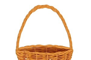 Traditional Wicker Basket Isolated