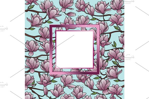 Magnolia Frame Composition