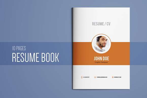 resume booklet template vol 01 resume templates creative market