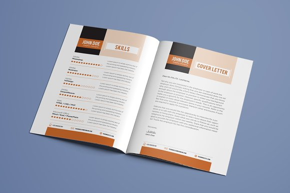 Resume Booklet Template Vol. 01 ~ Resume Templates ~ Creative Market