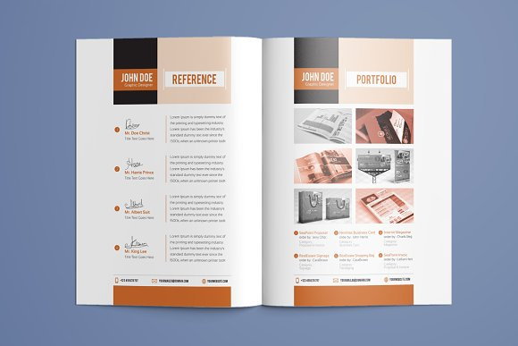 Resume Booklet Template Vol. 01 ~ Resume Templates ~ Creative Market