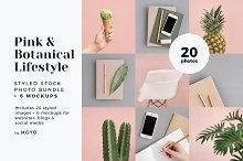 Pink & Botanical Stock Photo Bundle