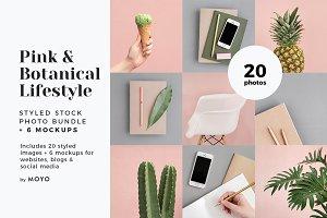 Pink & Botanical Lifestyle Photos