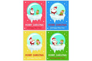 Merry Christmas Activities Vector Illustration