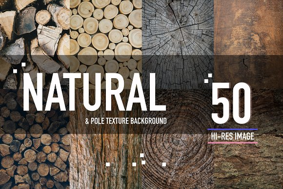 50 Natural & pole wood background