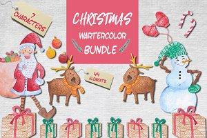 Christmas Watercolor Illustration
