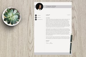 Resume Template 3 page pack | Tinna