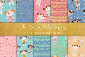 Doll Pattern - Scrapbook Papers