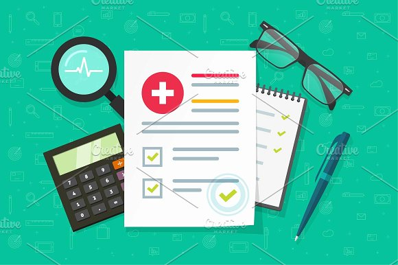Medical health insurance document in Illustrations - product preview 1