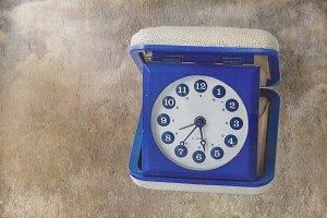 Vintage alarmclock of the seventies