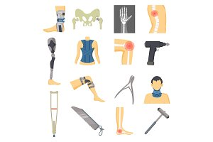 Orthopedic Icons Collection Vector Illustration