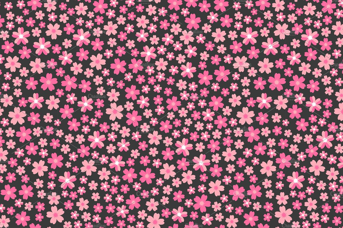 Pattern with pink flowers graphic patterns creative market mightylinksfo