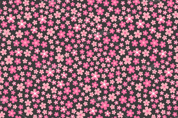Pattern With Pink Flowers Graphic Patterns Creative Market Unique Pink Patterns