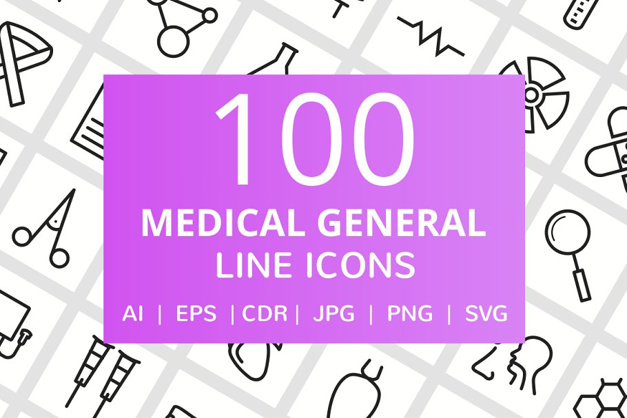 101 Medical General Line Icons
