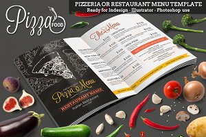 Pizzeria or Restaurant Menu Template