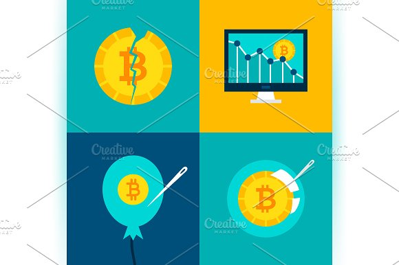 Cryptocurrency Bitcoin Concepts in Illustrations - product preview 2