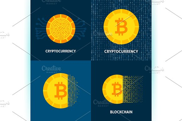 Cryptocurrency Bitcoin Concepts in Illustrations - product preview 3