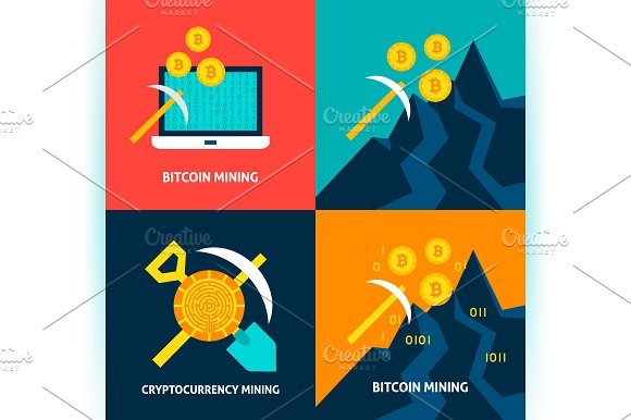 Cryptocurrency Bitcoin Concepts in Illustrations - product preview 4