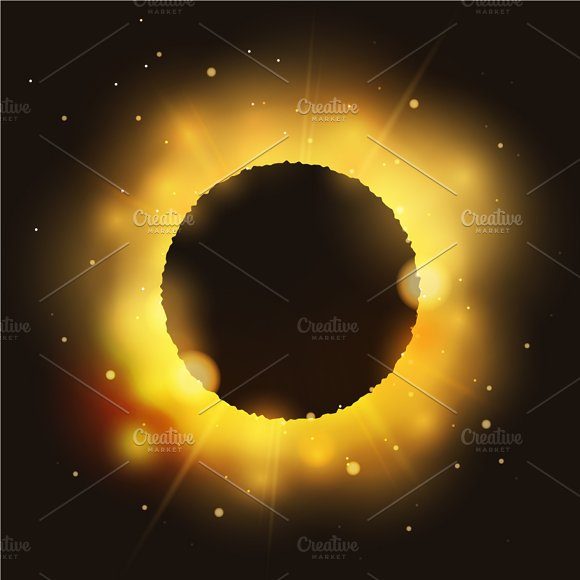 Eclipse on bright glossy star
