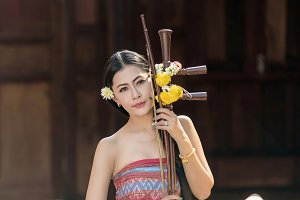 Girl in Thai traditional costume
