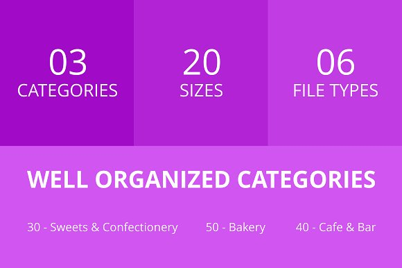 120 Sweets & Bakery Line Icons in Graphics - product preview 2