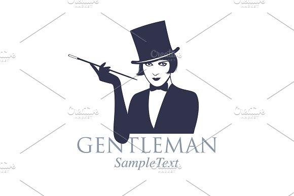 Gentleman style logo in Illustrations