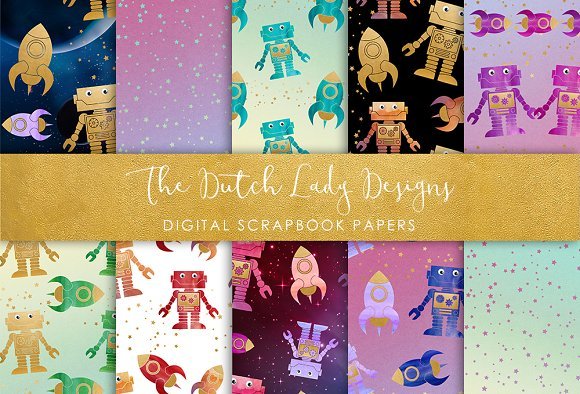 Space Pattern - Scrapbook Papers
