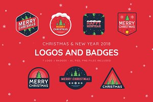 Christmas + New Year Logo & Badges