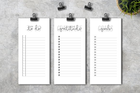 To Do Gratitude Goals Lists