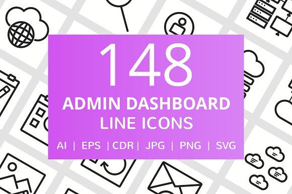 148 Admin Dashboard Line Icons
