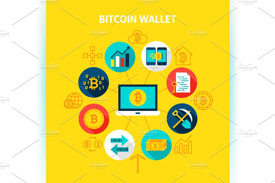 Bitcoin Vector Concepts in Illustrations - product preview 1