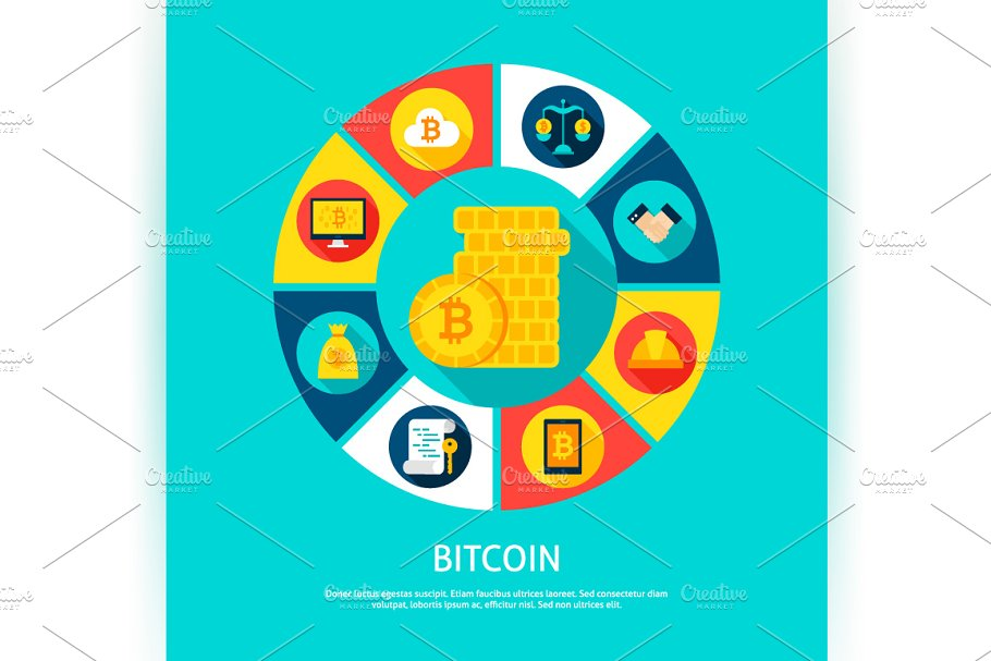 Bitcoin Vector Concepts in Illustrations - product preview 2