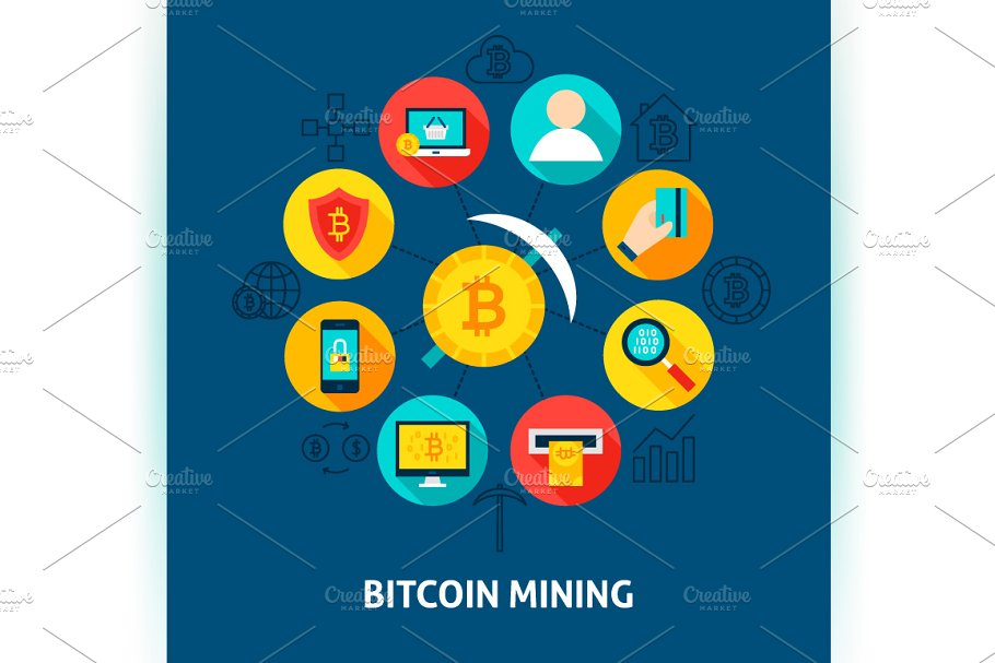 Bitcoin Vector Concepts in Illustrations - product preview 3