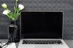Styled stock image feminine laptop