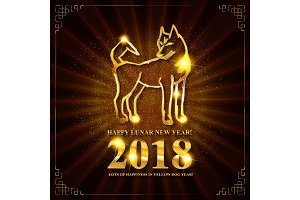 Symbol of Chinese New 2018 Year