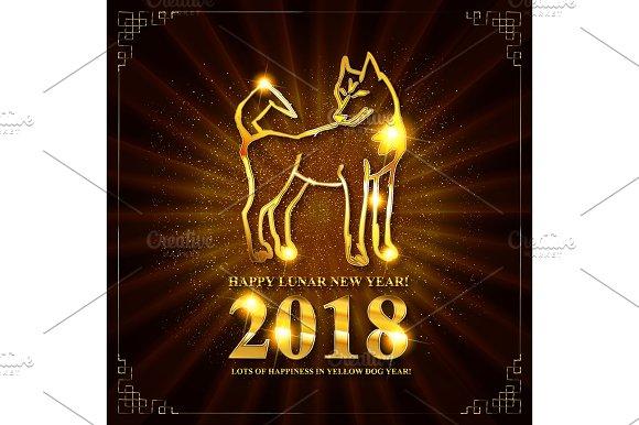 Symbol of Chinese New 2018 Year