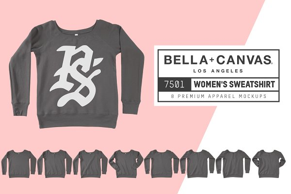 Bella Canvas 7501 Women's Sweatshir…