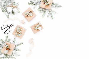 Christmas pattern craft boxes