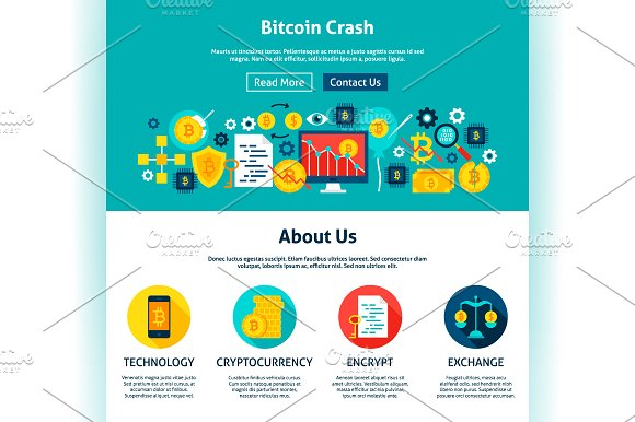 Bitcoin Infographics & Web Design in Illustrations - product preview 4