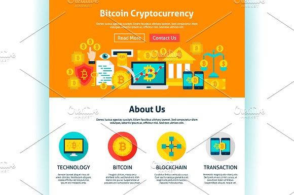 Bitcoin Infographics & Web Design in Illustrations - product preview 5