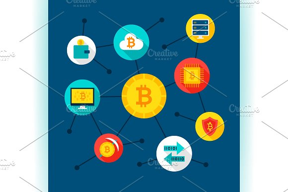 Bitcoin Infographics & Web Design in Illustrations - product preview 6