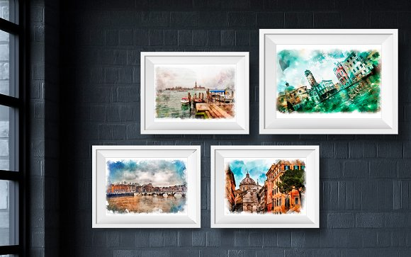 Wall Art Prints,Set of 4 Prints. Ita