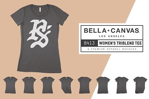 Bella Canvas 8413 Women's Triblend T